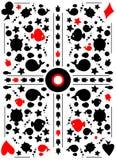Parte posterior de tarjeta con tema marino stock de ilustración