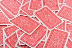 Parte posterior de tarjeta que juega Fotos de archivo libres de regalías