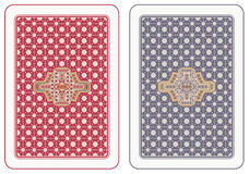Parte posterior de tarjetas que juegan Fotos de archivo libres de regalías