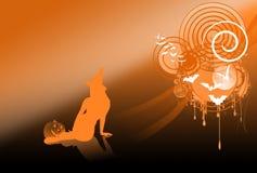 Parte posterior de Víspera de Todos los Santos ilustración del vector