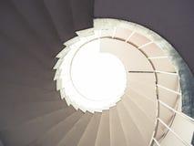 Parte posterior del extracto del nivel de la escalera espiral del detalle de la arquitectura Imagenes de archivo