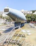 Parte posterior del frente de mar submarino eléctrico de Peral Cartegena imagenes de archivo