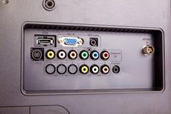 LCD T.V. Rear Fotos de archivo libres de regalías