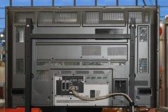 Parte posterior del LCD TV imagenes de archivo