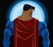 Parte posterior del super héroe Fotografía de archivo