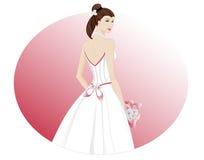 Parte posterior del vestido de boda Imagenes de archivo