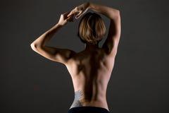 Parte posterior deportiva de la mujer Fotos de archivo libres de regalías