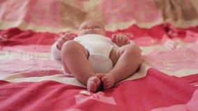 Parte posterior feliz del bebé encendido almacen de metraje de vídeo
