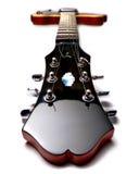 Parte posterior roja de la guitarra eléctrica encendido Fotos de archivo