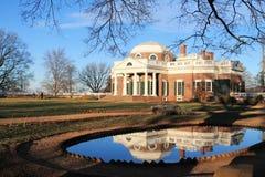 Parte posterior y paisaje de Monticello Imagen de archivo