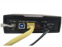 Parte posteriore #1 del modem a banda larga fotografia stock
