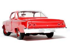 Parte posteriore 1962 dell'automobile del giocattolo della scala del metallo della Chevrolet Belair Immagini Stock
