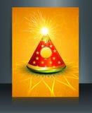 Parte posteriore alla moda dell'opuscolo di diwali del modello di vettore di riflessione royalty illustrazione gratis