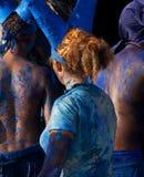 Parte posteriore & azzurro di colore rosso Fotografia Stock Libera da Diritti
