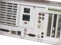 Parte posteriore del desktop computer Fotografia Stock Libera da Diritti