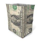 Parte posteriore del dollaro del sacco di carta Immagini Stock