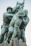 Parte posteriore del lato dei soldati della bandiera di Iwogima Fotografie Stock Libere da Diritti