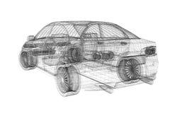 Parte posteriore dell'automobile Immagine Stock Libera da Diritti
