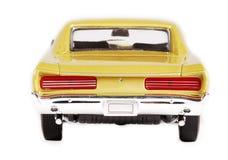 Parte posteriore dell'automobile del giocattolo della scala del metallo Fotografia Stock