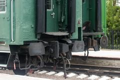 Parte posteriore dell'automobile ferroviaria fotografie stock