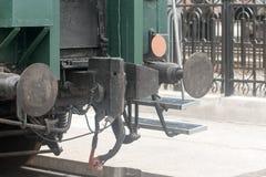 Parte posteriore dell'automobile ferroviaria fotografie stock libere da diritti