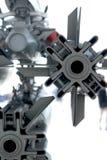 Parte posteriore dell'estratto della bomba sull'æreo a reazione Fotografia Stock