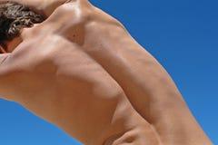 Parte posteriore dell'uomo immagini stock libere da diritti