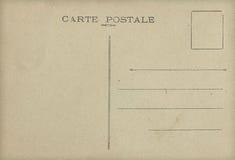 Parte posteriore della cartolina dell'annata Immagini Stock