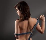 Parte posteriore della giovane donna immagini stock
