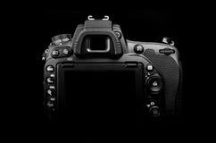 Parte posteriore della macchina fotografica della foto di DSLR Fotografie Stock Libere da Diritti