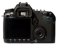 Parte posteriore della macchina fotografica di Digitahi SLR Fotografie Stock Libere da Diritti