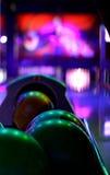 Parte posteriore della palla da bowling Fotografia Stock