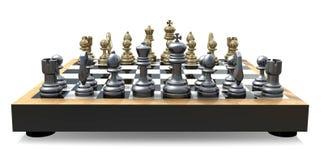 Parte posteriore della scheda di scacchi Fotografie Stock