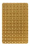 Parte posteriore di carte da gioco, carta dorata di colore immagini stock libere da diritti