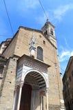 Parte posteriore di Santa Maria Maggiore della basilica della chiesa a Bergamo, Citta Alta Fotografie Stock Libere da Diritti