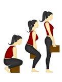 Parte posteriore e posizione della spalla giusta immagini stock libere da diritti
