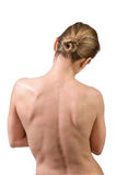 Parte posteriore muscolare della donna Fotografie Stock