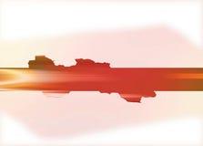 Parte posteriore pallida di colore rosso con la barra inversa rossa ed arancione Illustrazione Vettoriale