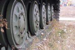 A parte principal do tanque ou no trator de lagarta Fotografia de Stock