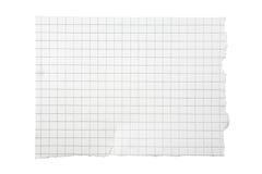 Parte rasgada de papel esquadrado Foto de Stock Royalty Free