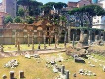 Parte romana antiga da cidade de Roma Italy fotos de stock