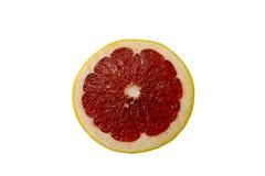 Parte rossa del pompelmo su bianco Fotografia Stock Libera da Diritti