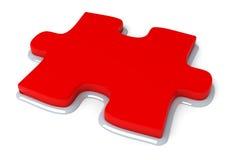 Parte rossa di puzzle Fotografie Stock