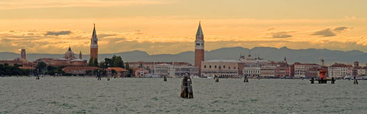 A parte secreta da lagoa de Veneza imagem de stock