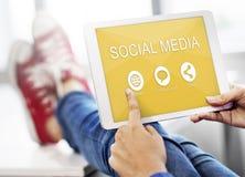 A parte social de Media Communication conecta o conceito fotos de stock royalty free