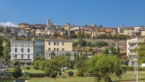 Parte storica della città Bergamo Immagini Stock