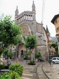 Parte storica della città di Soller (Mallorca, Spagna) fotografia stock
