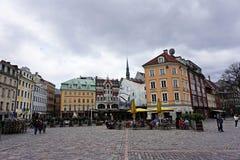 Parte storica di Riga Immagini Stock