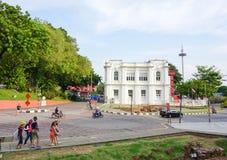 Parte storica di vecchia città malese Fotografie Stock Libere da Diritti