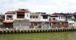Parte storica di vecchia città malese Immagine Stock Libera da Diritti